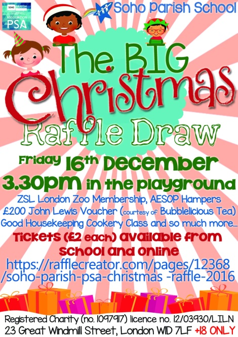christmas raffle poster templates - christmas raffle soho parish psa